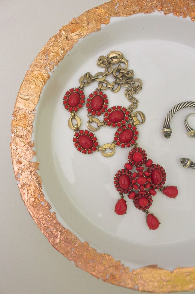 Copper Leaf Jewelry Tray