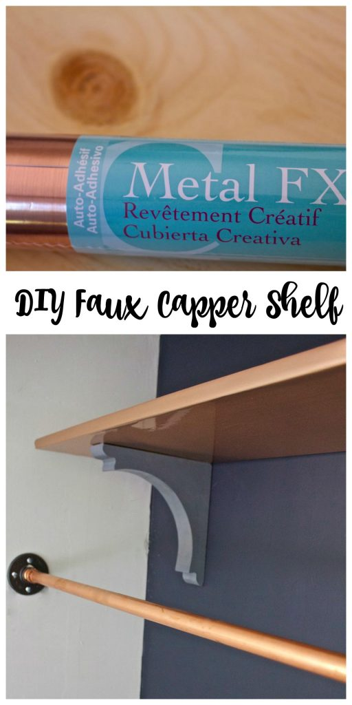 DIY Faux Copper Shelf