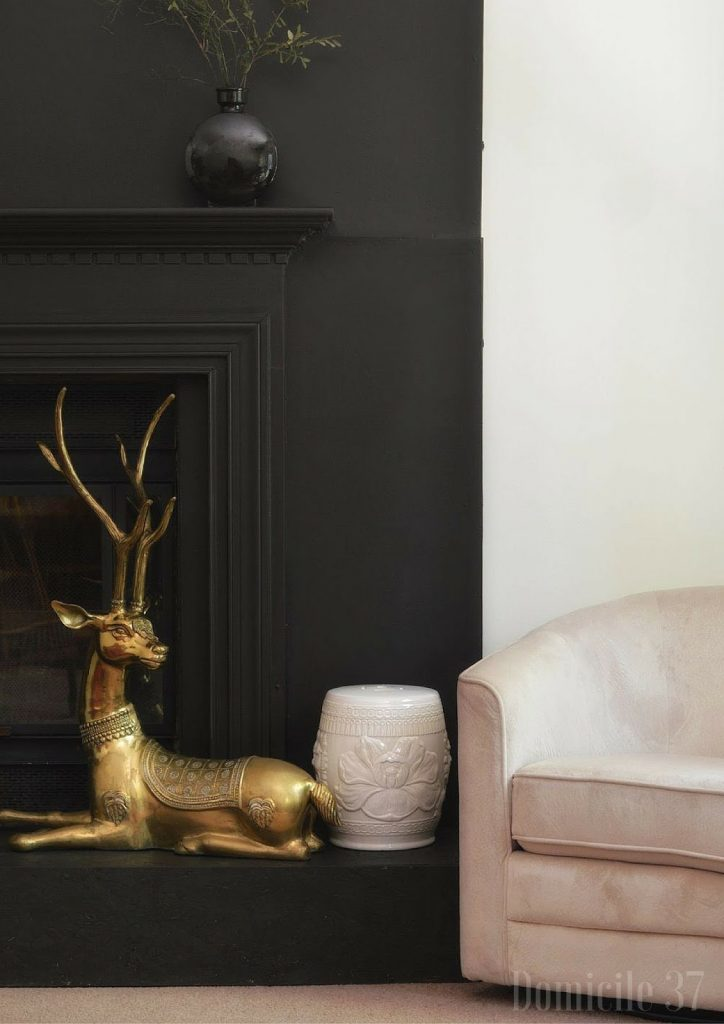Ace Hardware Clark + Kensington Midnight Stroll paint Fireplace finish4