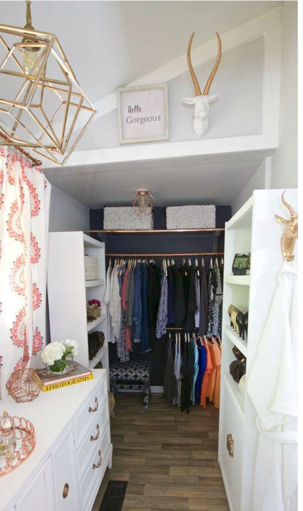 Master Bedroom Closet - One Room Challenge Reveal