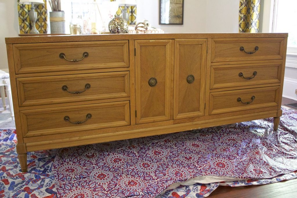 Painted Dresser Makeover in ASCP Pure White