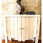 Painted Side Table Makeover in Old White