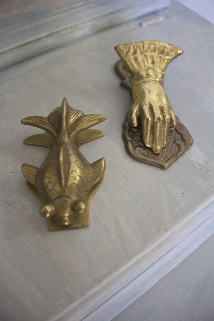 Summer Home Tour - vintage metal paper clips.