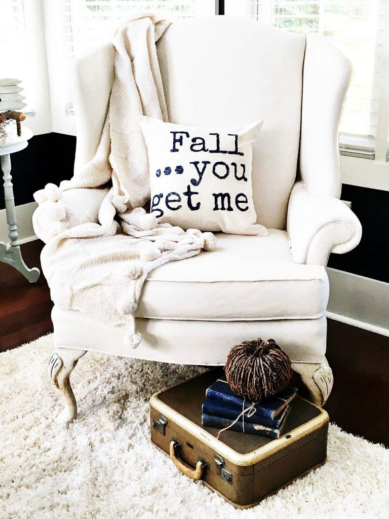 DIY Fall Pillow sharp