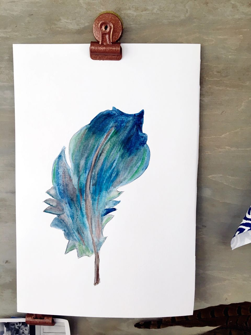 DIY Watercolor Feather