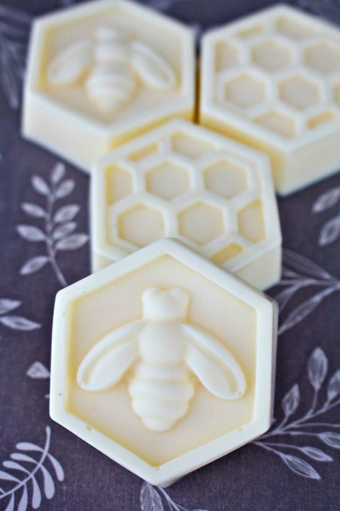 Easy DIY scented bee soaps.