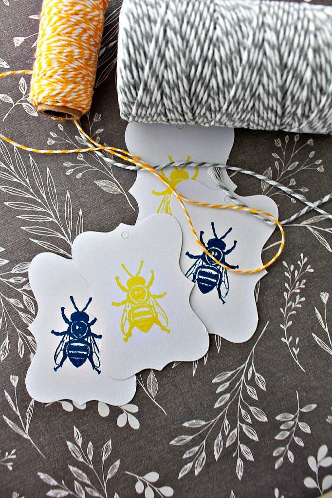 DIY Scented Bee Soaps. Bakers twine for gifting.