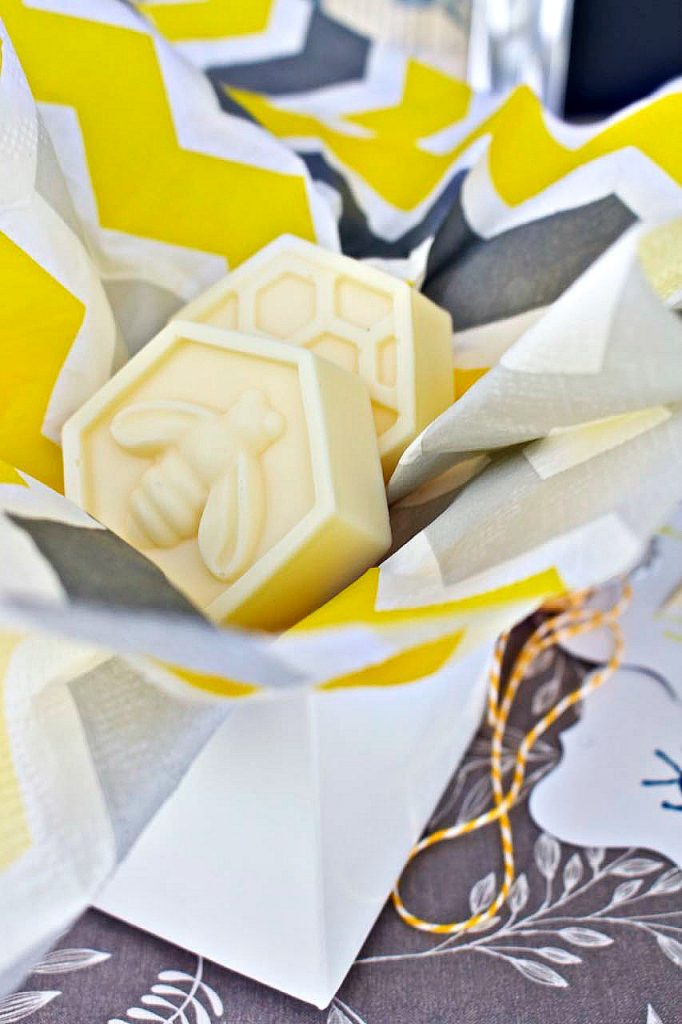 DIY Scented Bee Soaps. Easy soap recipe.