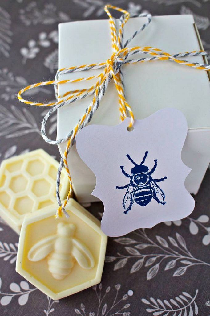DIY Scented Bee Soaps. Great DIY gift.