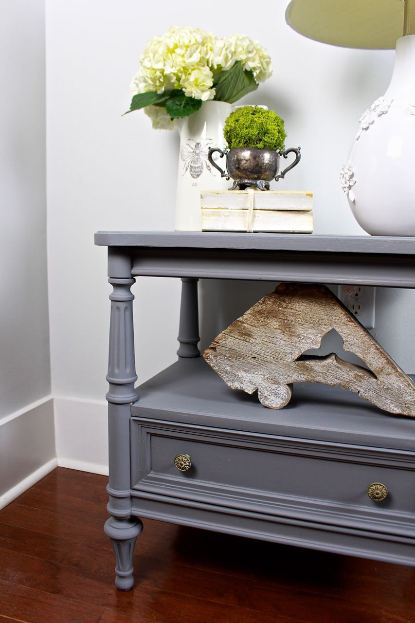 Painted furniture. Gray Painted Side Table