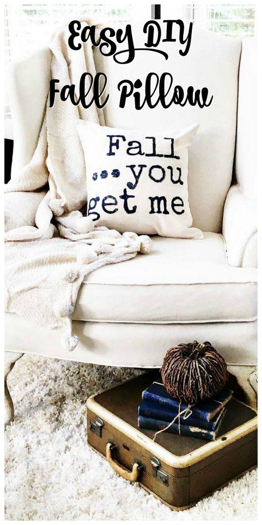 Easy DIY Fall Pillow