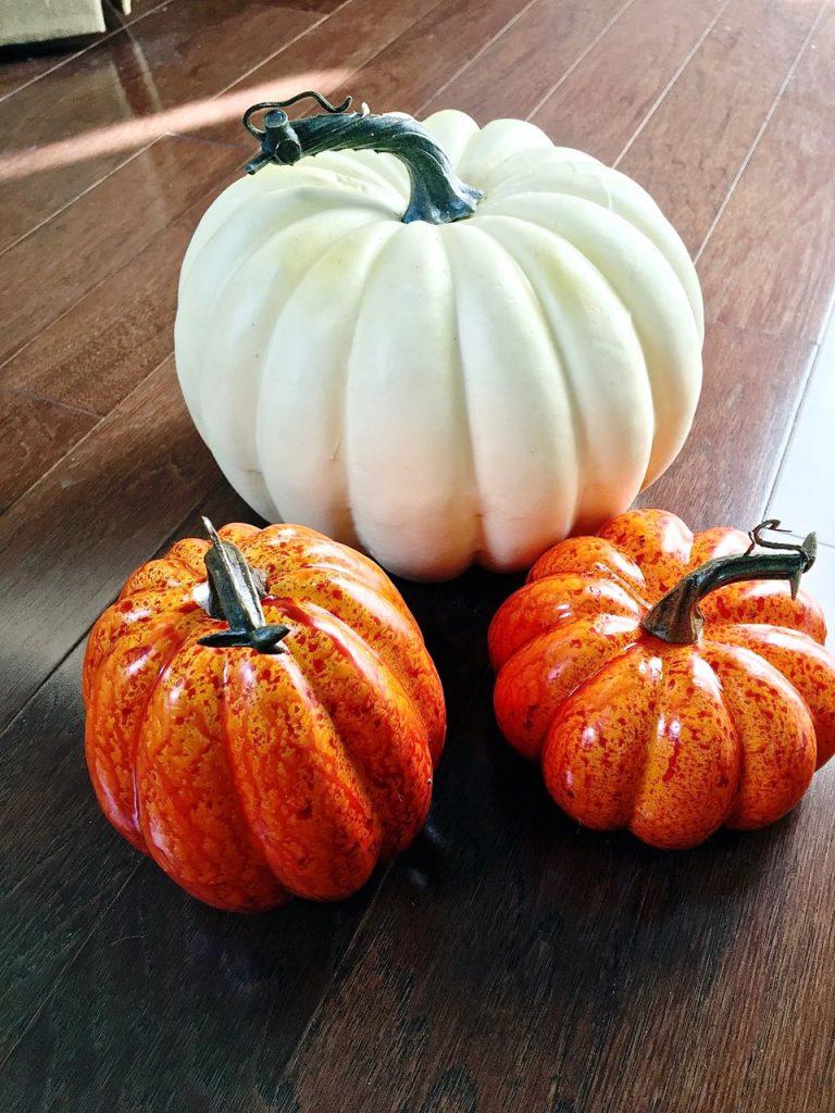 Painted Pumpkins and DIY Stems