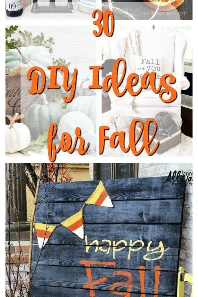 30 DIY Ideas for Fall