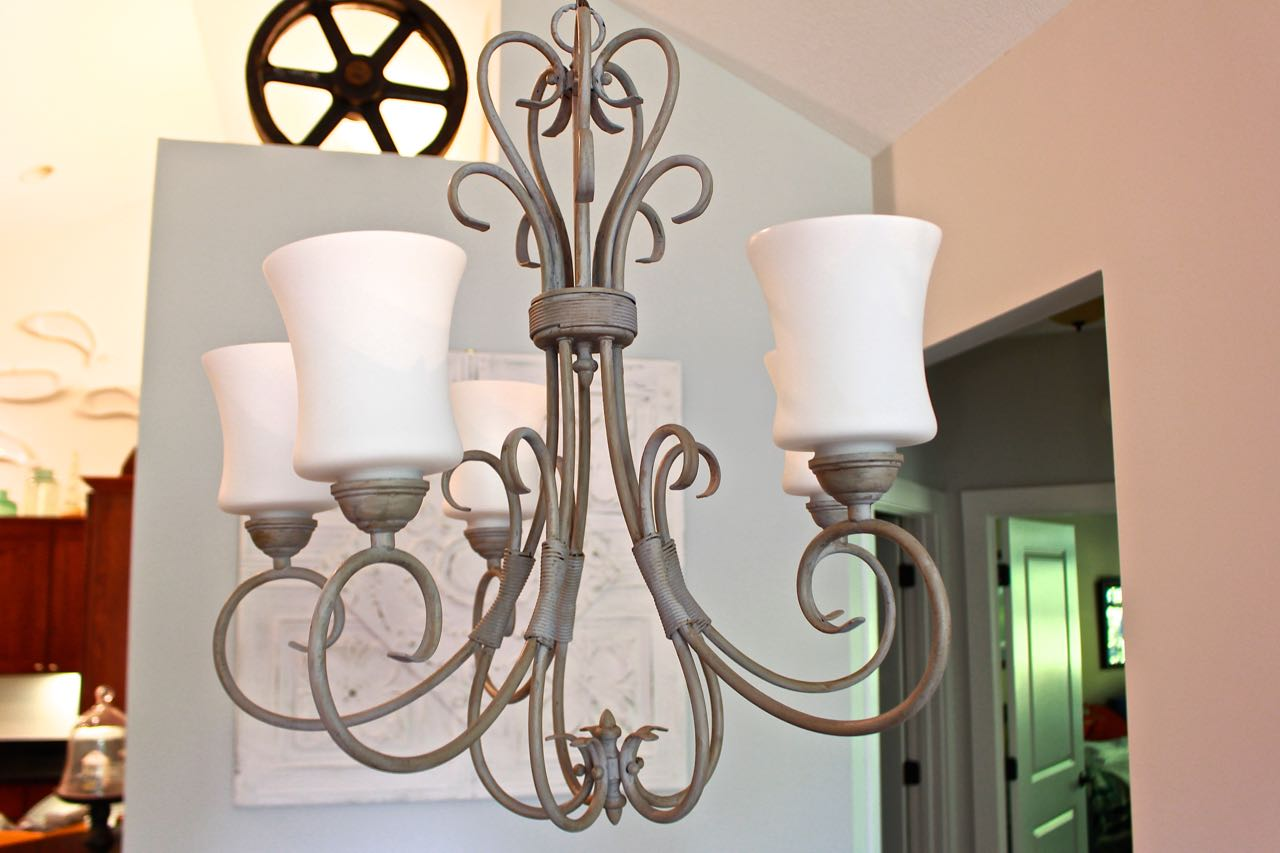 Chandelier makeover with chalk paint 2 bees in a pod chandelier makeover with chalk paint lighter and brighter arubaitofo Choice Image