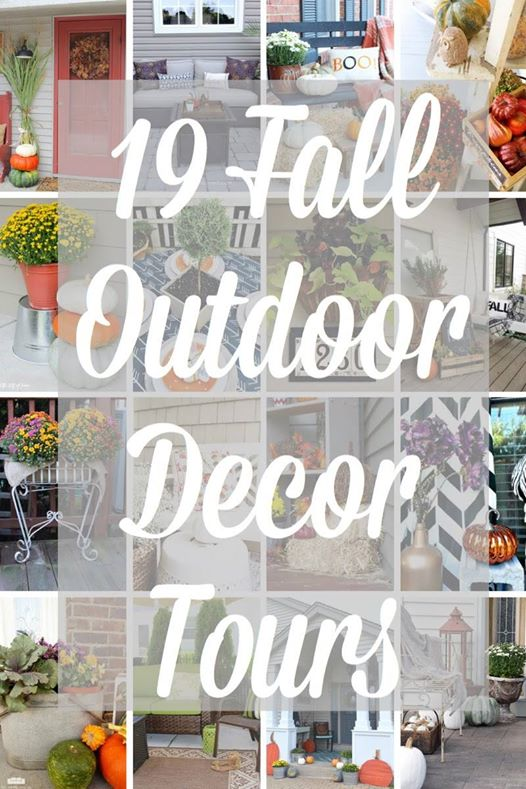 Fall on the Front Porch. 19 blogger's Outdoor Decor.