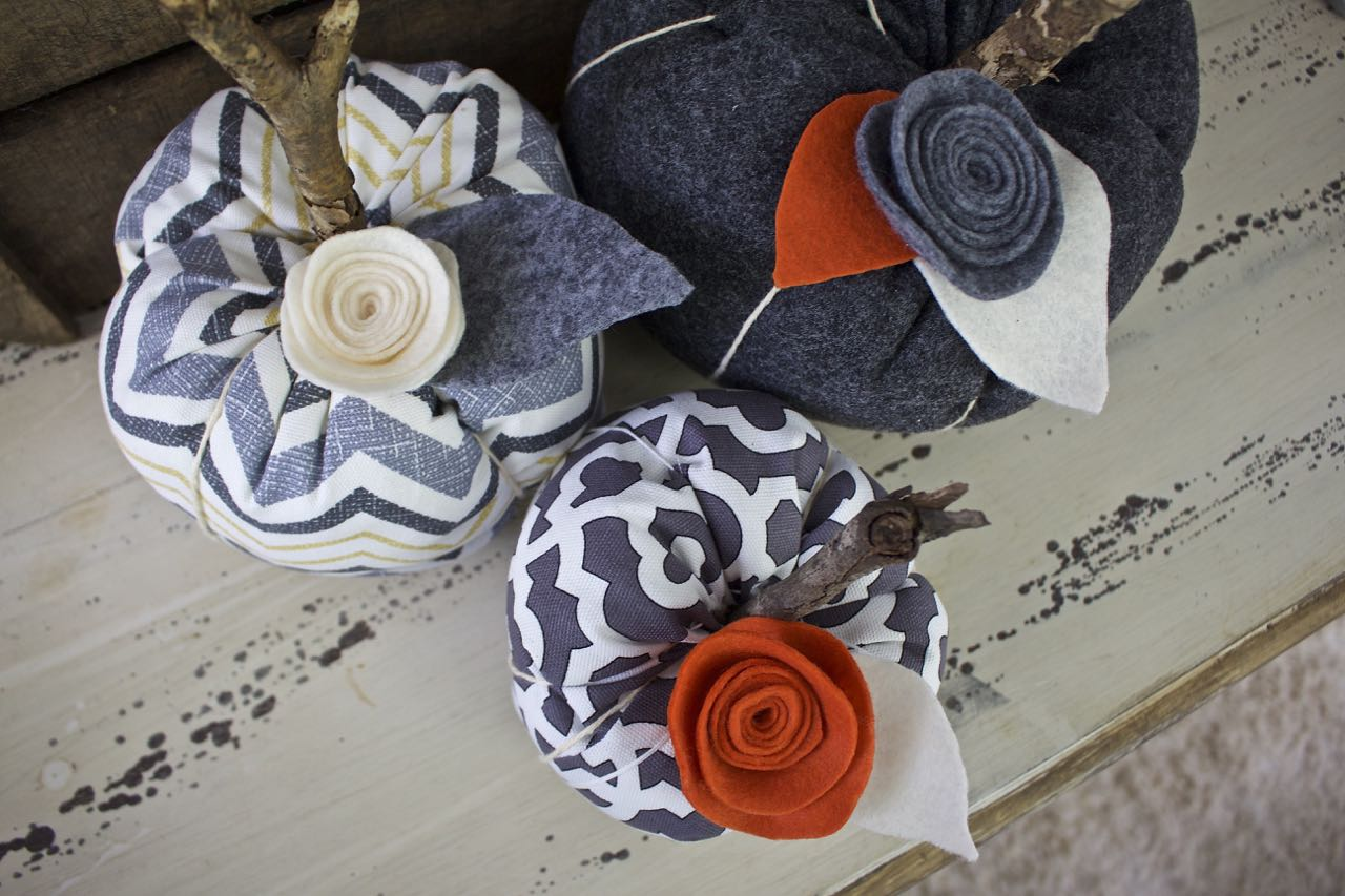 Fabric Pumpkins