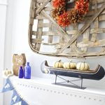Fall Mantel at Vicki's House