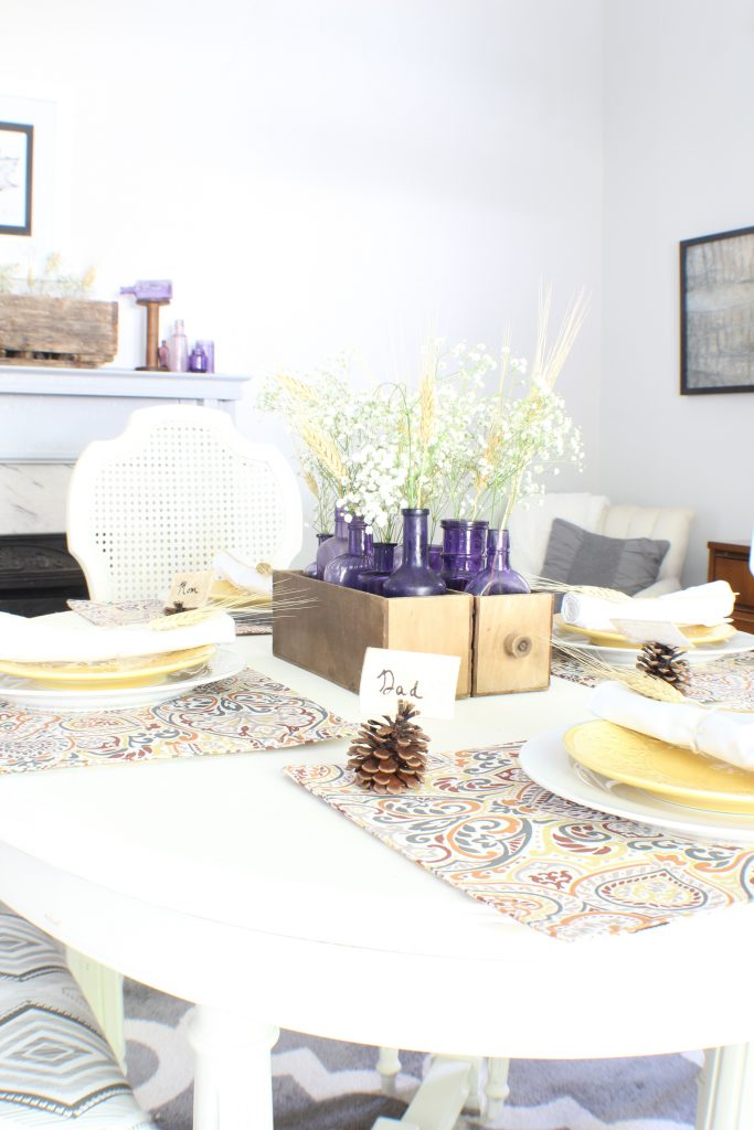 Fall tablescape. Fall home tour.