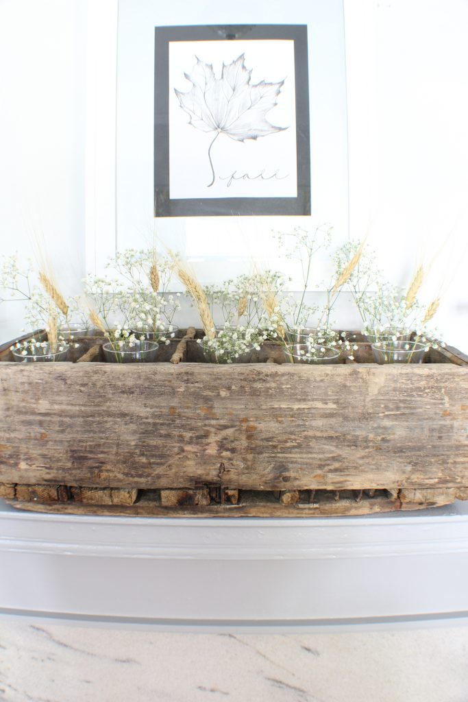 Mantel Fall decor. Fall home tour.