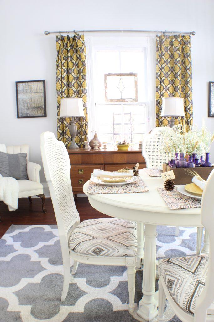 Dining room Fall decor. Fall home tour.