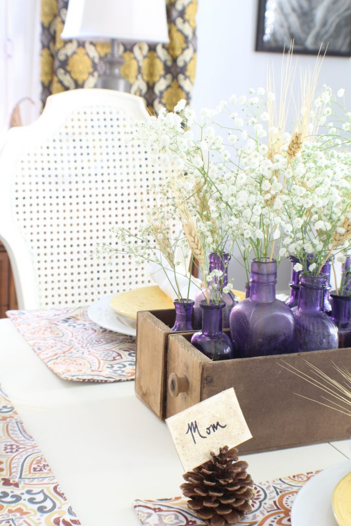 Fall home tour. Fall tablescape.