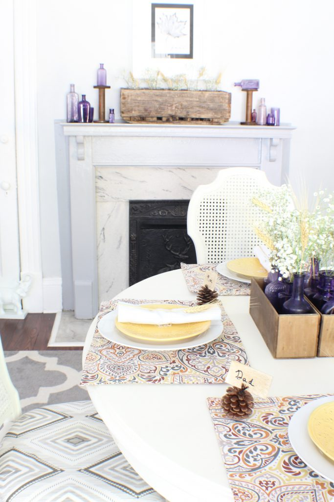 Fall home tour. Rustic dining room.