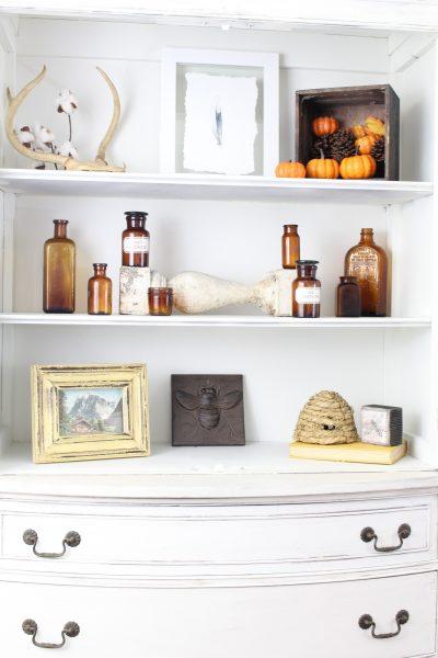 Fall Home Decor – Entryway Shelves