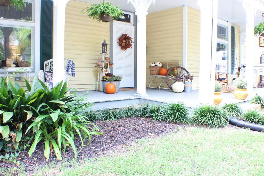 Decorating the front porch for Fall. Fall Front Porch.