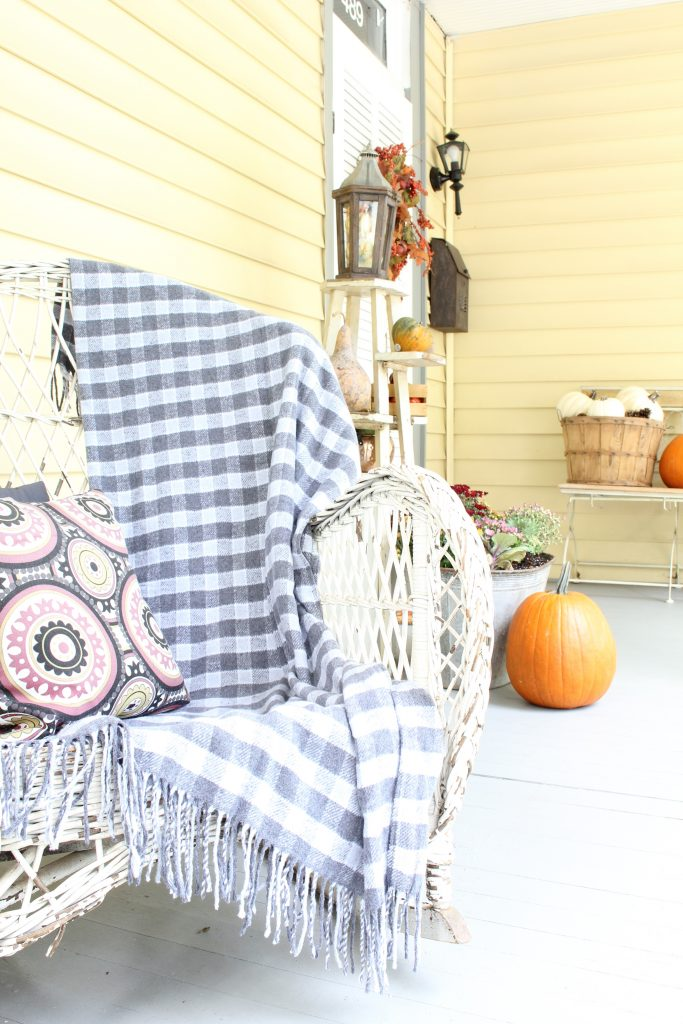Fall decor for exterior. Fall front porch tour.