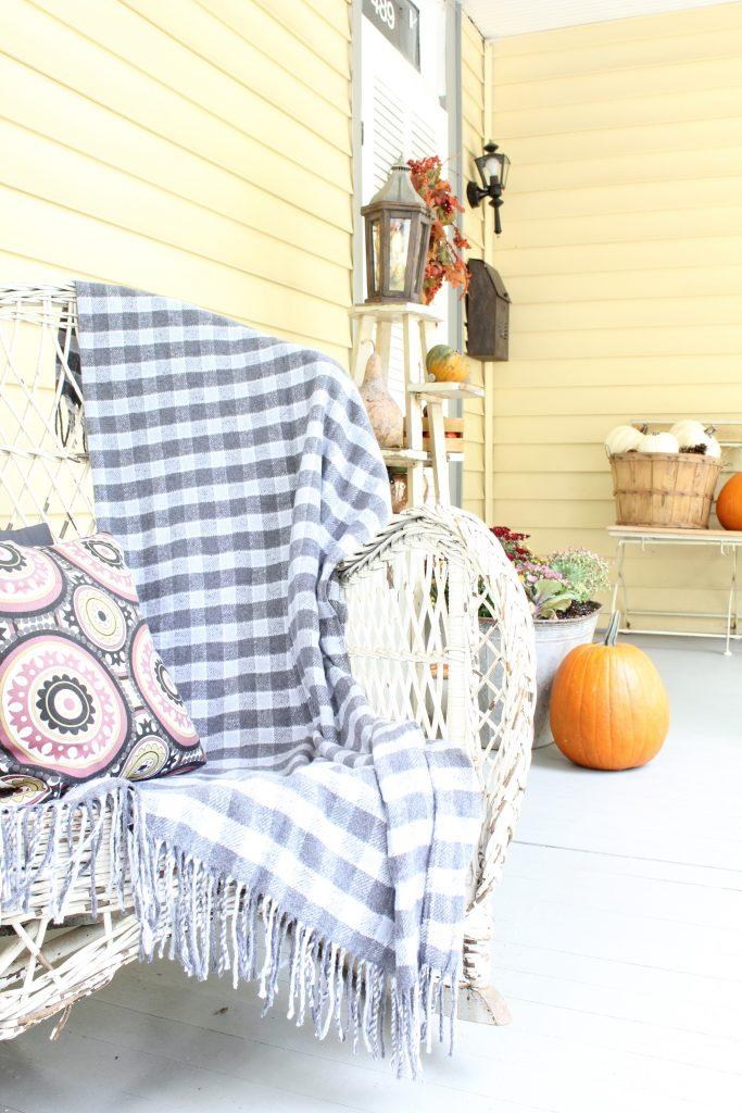 Fall decor for exterior. Fall front porch tour.
