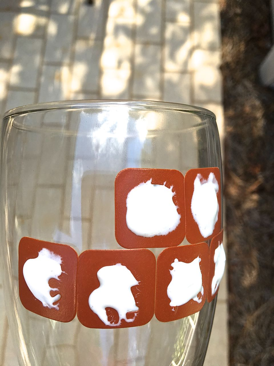 DIY Etched Beer Glasses