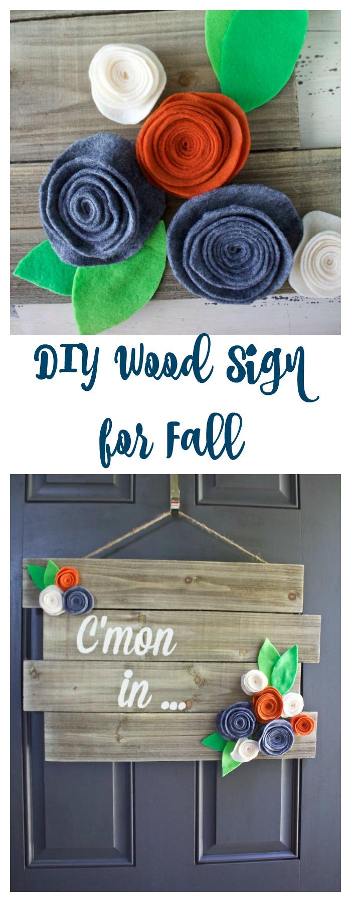 DIY Wood Sign for Fall. Fall decor. Fall door hanger. Fall wreath.