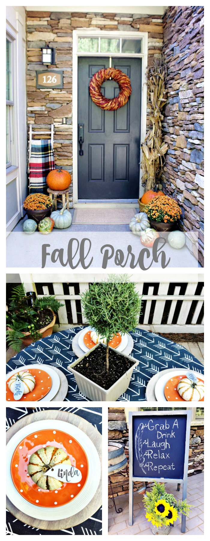 Fall on the front porch