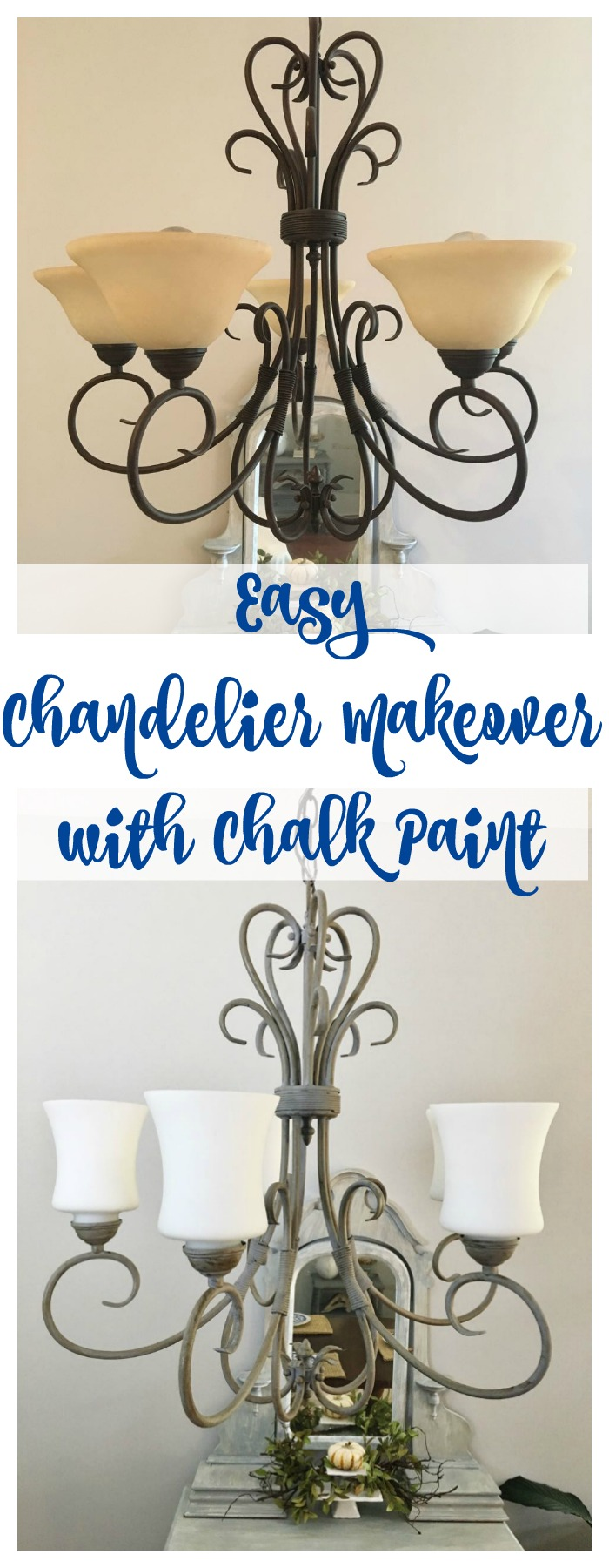 Chandelier Makeover With Chalk Paint 2 Bees In A Pod