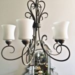 Chandelier Makeover with Chalk Paint