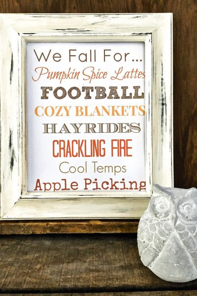 Painted Frame Makeover and a Free Fall Printable