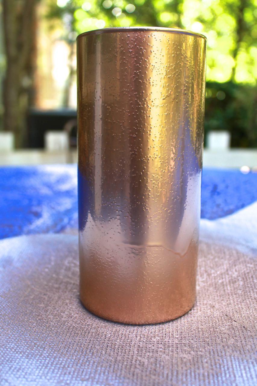 DIY Copper Mercury Glass Votives