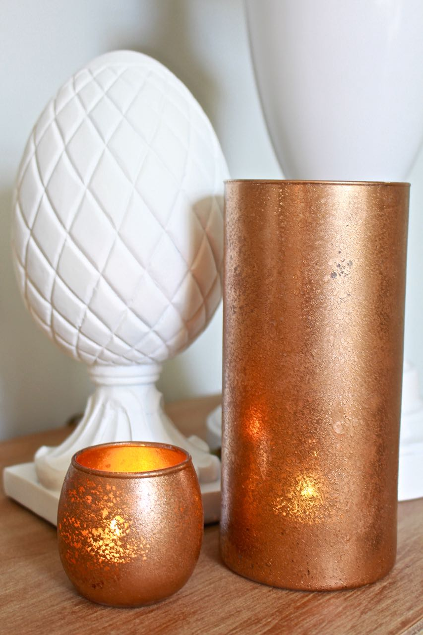 DIY Copper Mercury Glass Votives