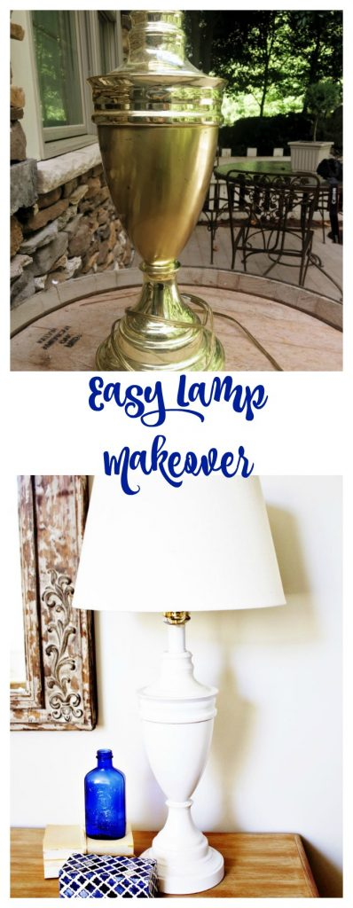 Easy Lamp Makeover with Spray Paint. l
