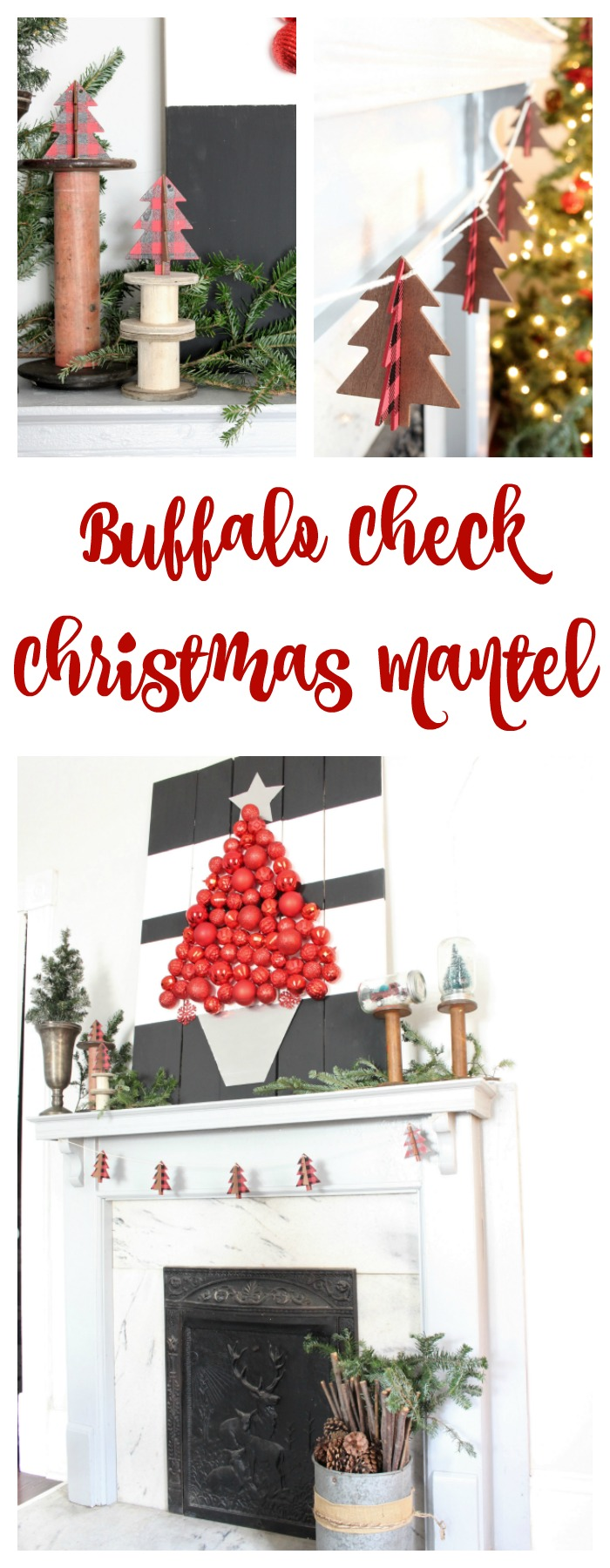 buffalo-check-christmas-mantel