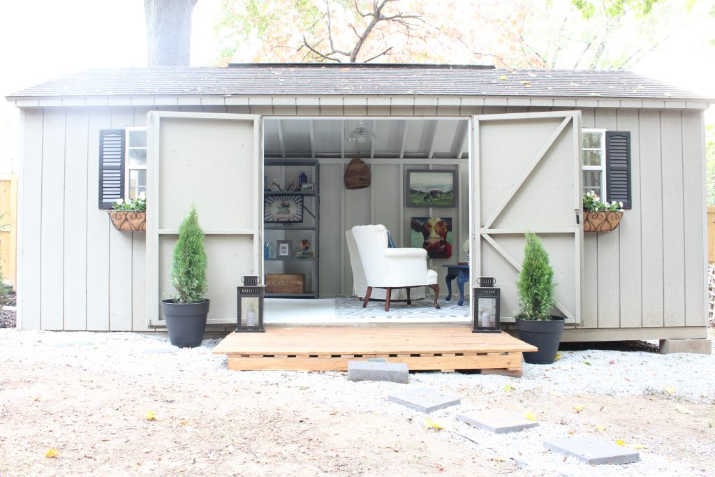 She Shed Reveal. One Room Challenge.
