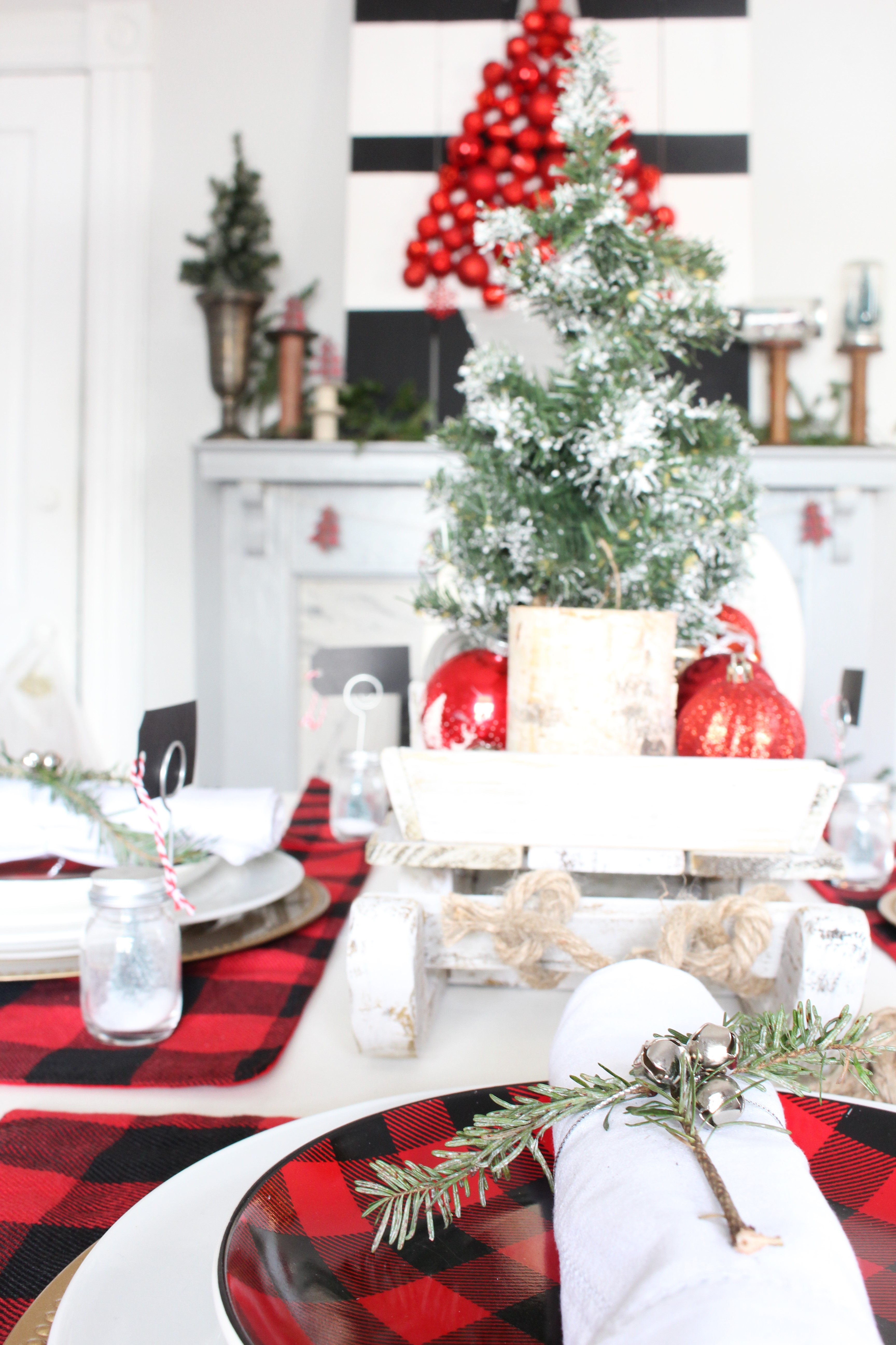 buffalo check christmas tablescape christmas decor