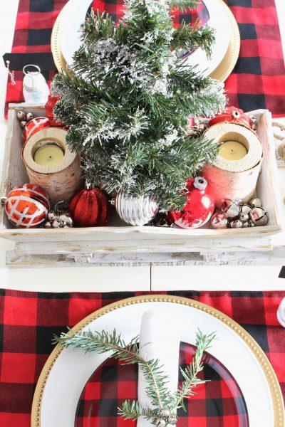 Buffalo Check Christmas Tablescape