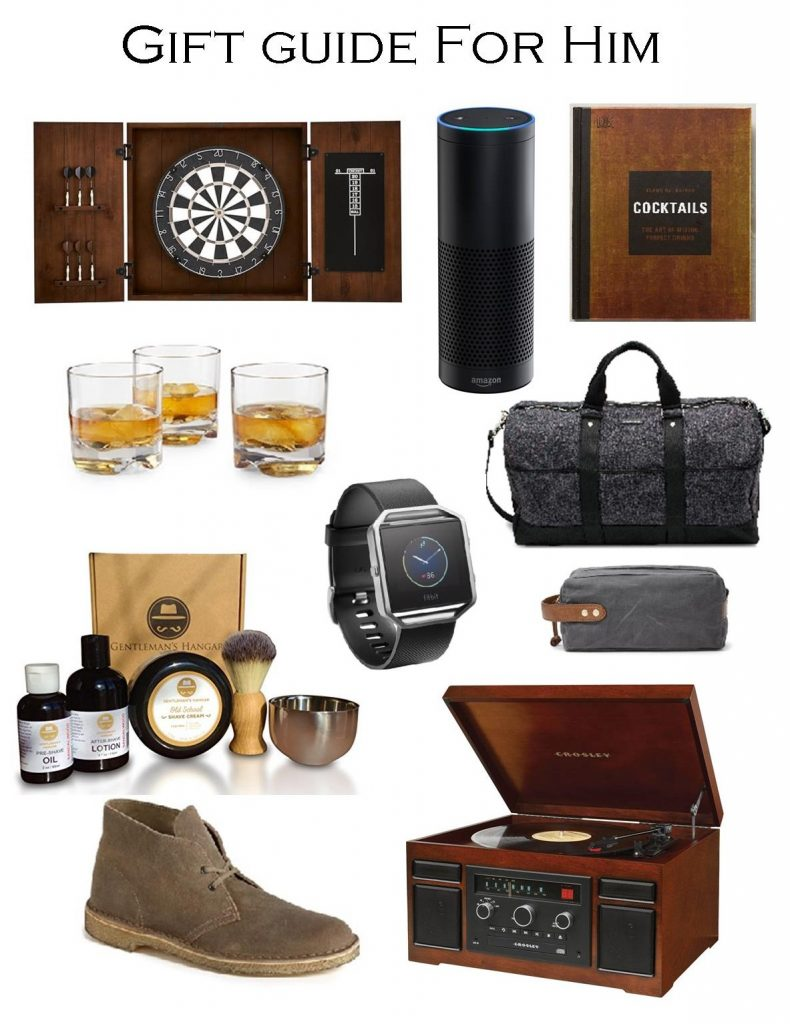 Gift Guide for Him. Christmas gift guide for men.