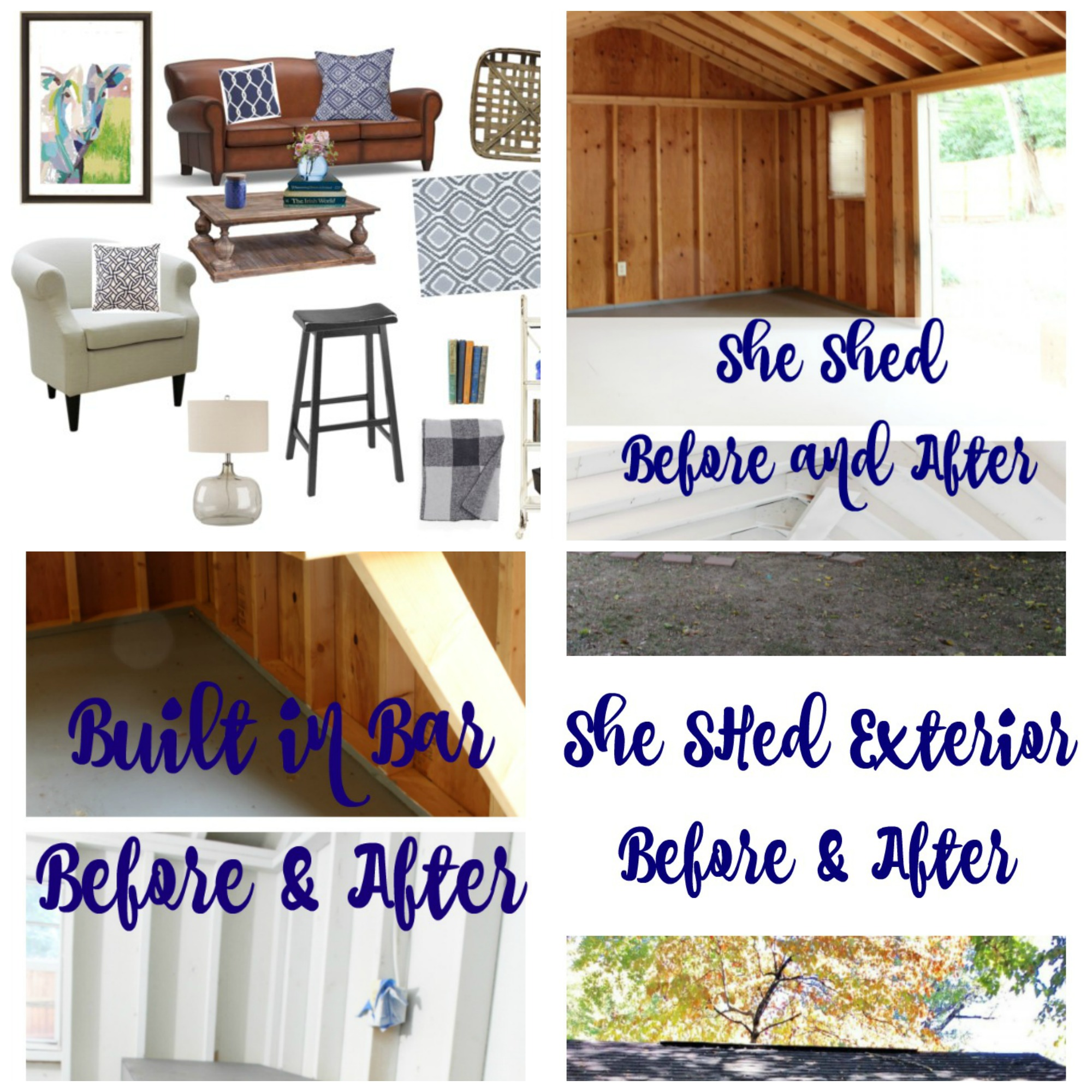 One Room Challenge She Shed - Week 5