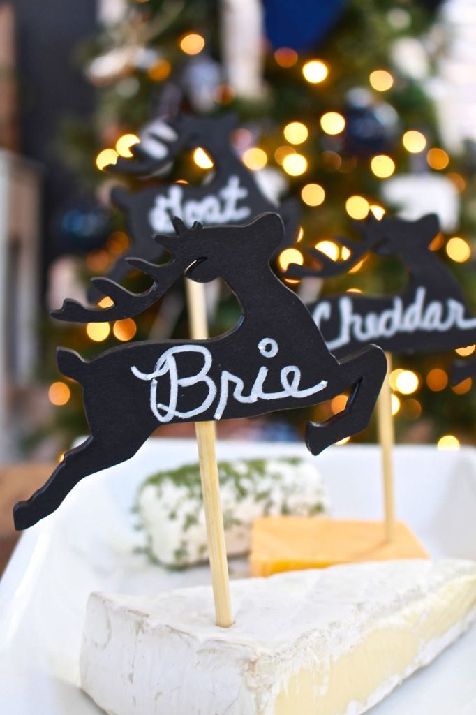 DIY Cheese Marker Tags - Virtual Holiday Cocktail Party