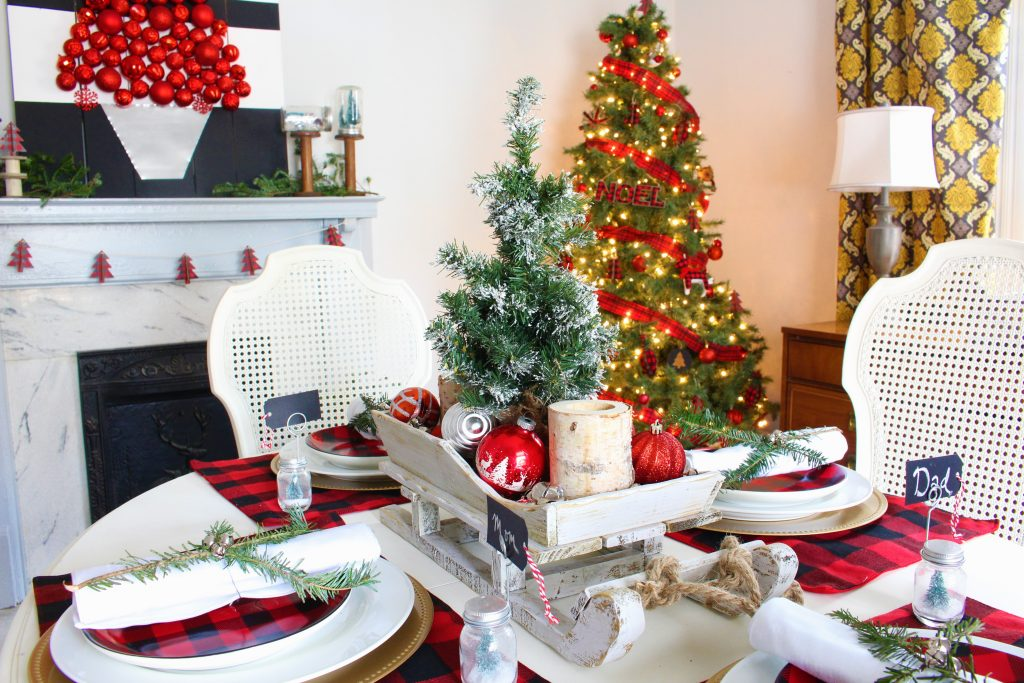 Buffalo Check Christmas Dining Room