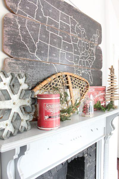Rustic Christmas Kitchen Mantel