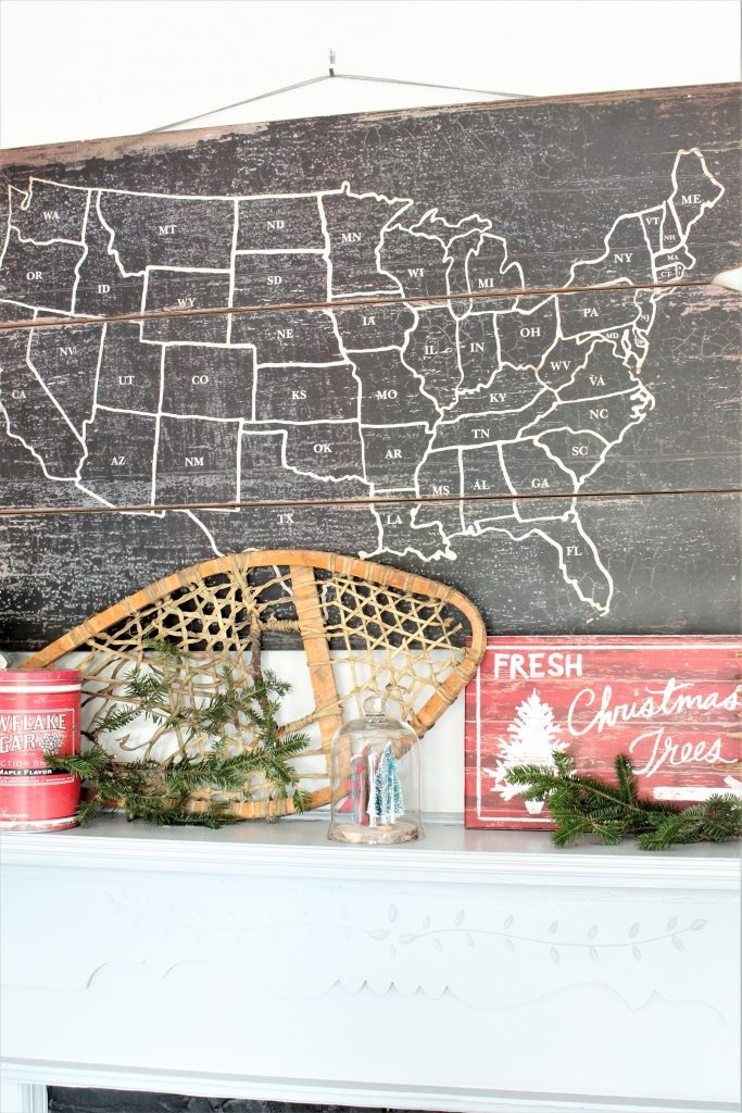 Rustic Christmas Kitchen Mantel