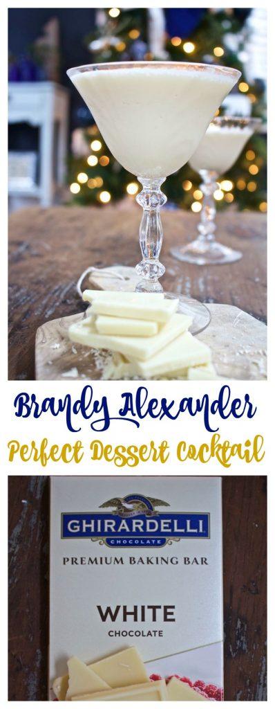 Brandy Alexander - Perfect Dessert Cocktail. Made with vanilla ice cream, brandy and creme de cocoa.